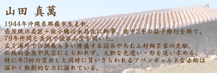 山田真萬,沖縄,やちむん